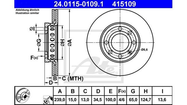 ATE Bremseskive Lupo 3L / Audi A2 3L ATE (Sæt)