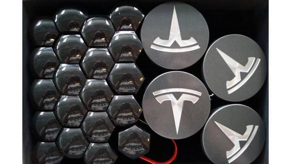 Tesla Model 3 Aero Wheel Cap Kit (Grå)