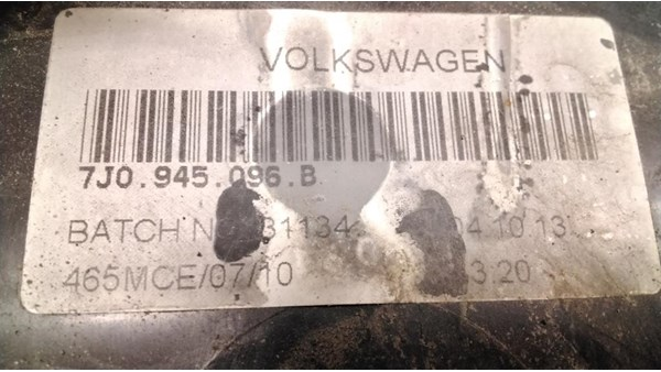 BAGLYGTE VAN, VW TRANSPORTER T5 (03-15)