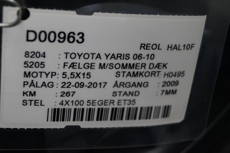 TOYOTA TOYOTA YARIS 06-10