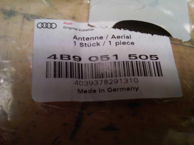 ANTENNE, AUDI A6 4B 98-04