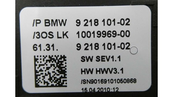 GEARSKIFTE AUTOMATIK, BMW 5 F10/F11 10>
