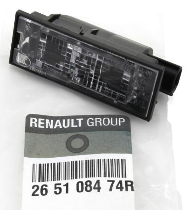 Renault Nummerpladelygte