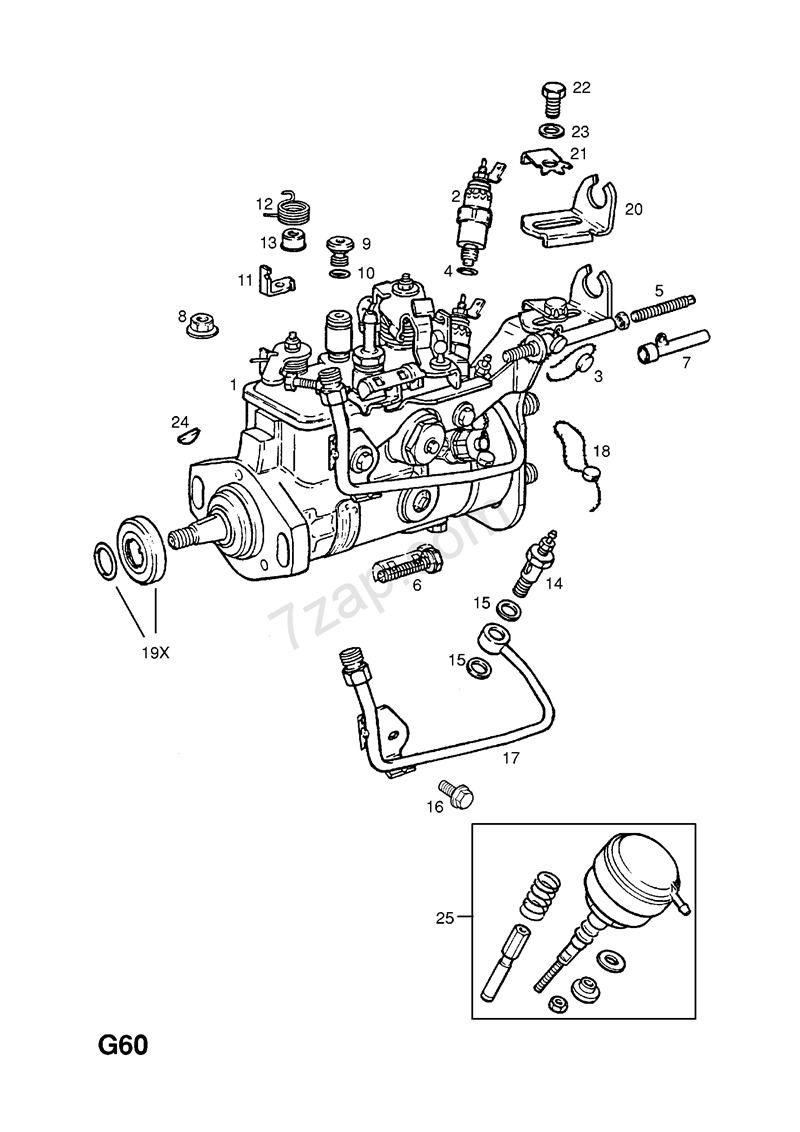 Opel Magnetventil, brændstofpumpe - Astra F / Kadett E / Vectra A