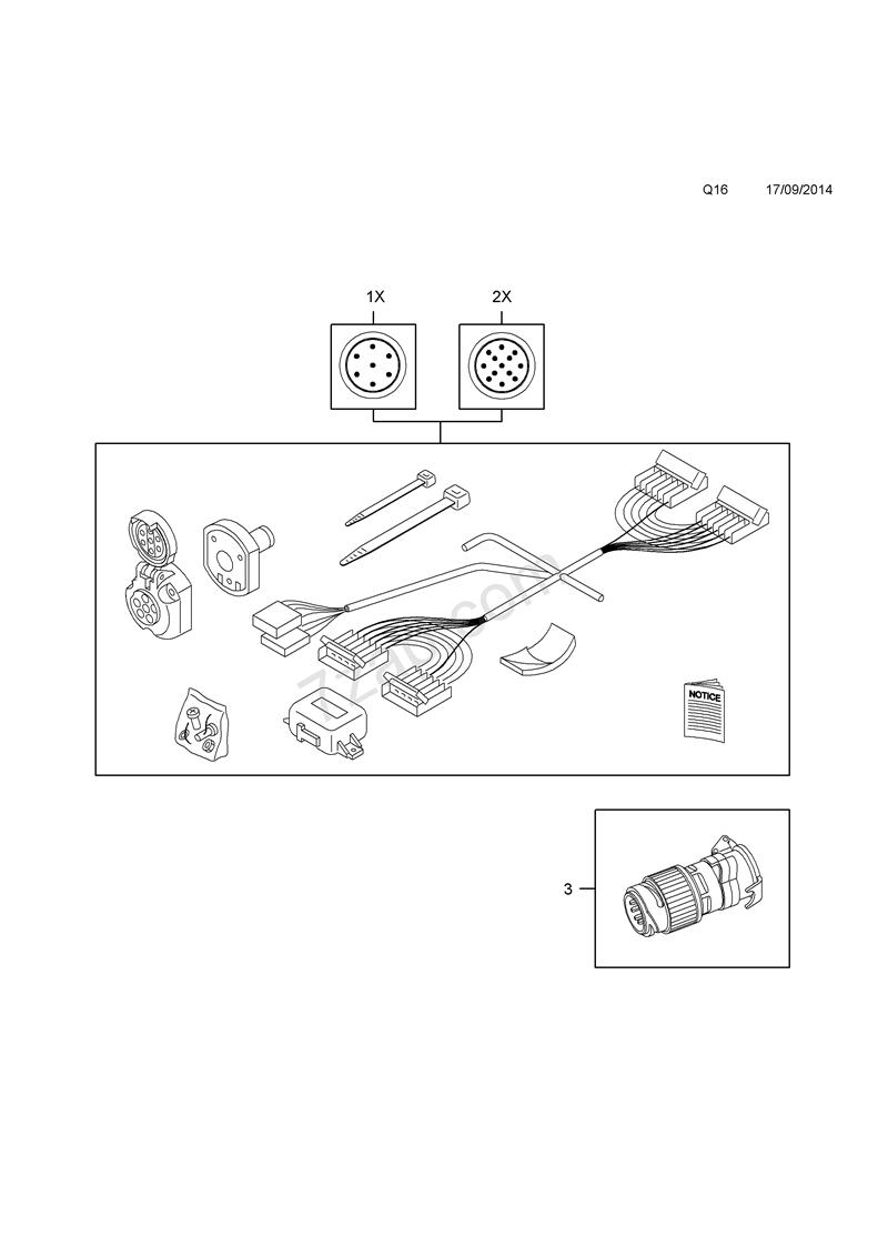 Opel Ledningsnet, anhængertræk - Vivaro B